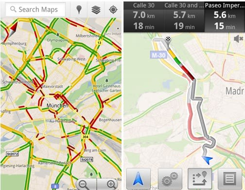 Google Maps brings live traffic coverage to 13 European