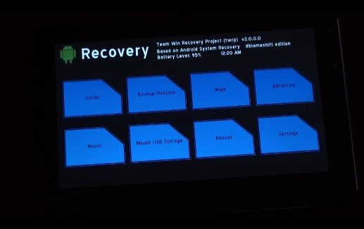 TeamWin demos TWRP 2 0 recovery manager for Android, scoffs