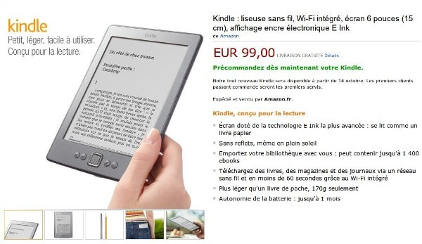 Amazon Brings Kindle And Associated Ebook Shop To France