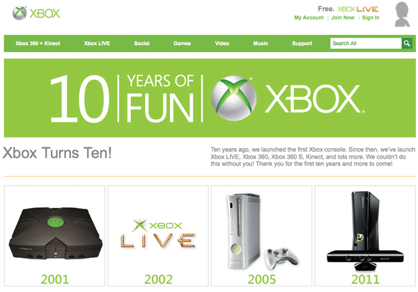 Microsoft Xbox turns X years old today, celebrates decade of