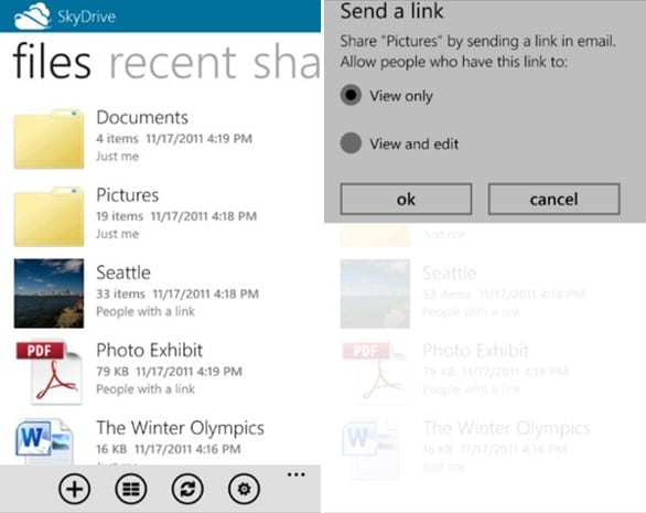 Microsoft launches SkyDrive app for Windows Phone and iPhone
