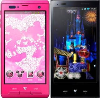 Disney Mobile on DoCoMo brand launches with two new Android phones
