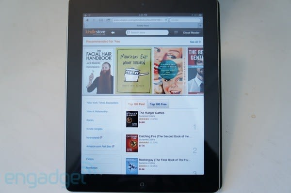 Amazon launches touch-friendly, web-based Kindle store for iPads