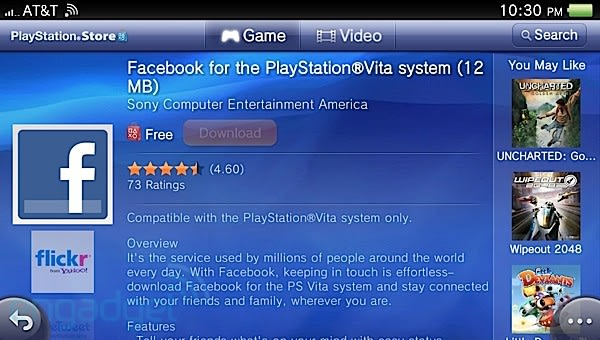PS Vita Facebook app officially resurfaces, available for