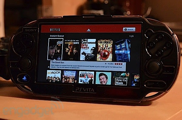 Select' PS Vita apps hit the US PlayStation Store: Netflix