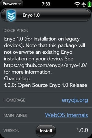 webOS Enyo 1 0 now available to all, just requires patch and patience