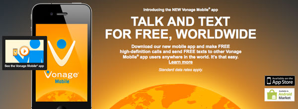 Vonage Mobile app allows free calls and texts worldwide to