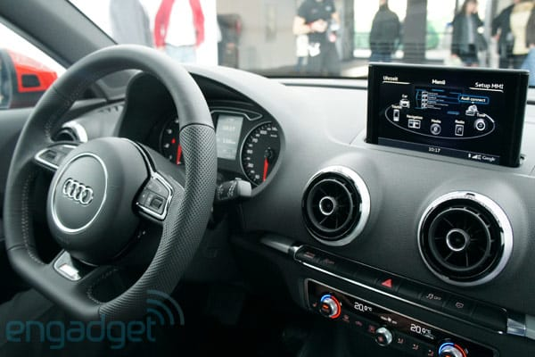 Audi A3 with MMI Touch gesture-based entertainment system hands-on