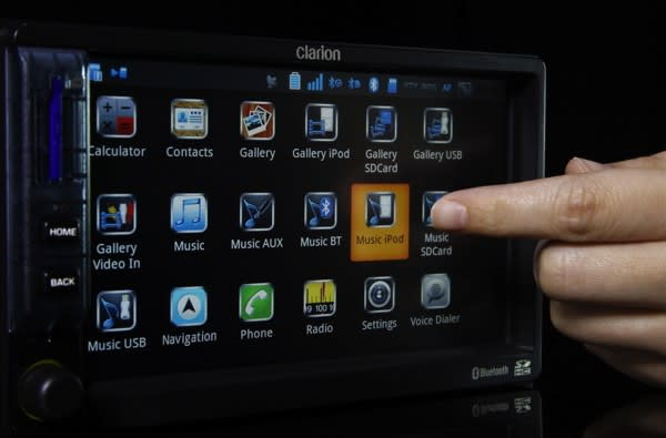 Clarion's Android-running Mirage IVI: a head unit that can play