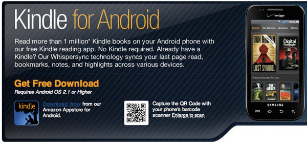 Kindle app for Android updated with Send-to-Kindle