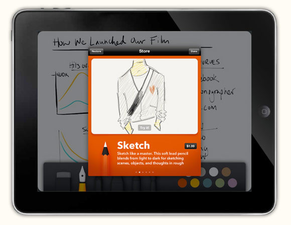 Paper: the iPad sketchbook app from the brains of Courier