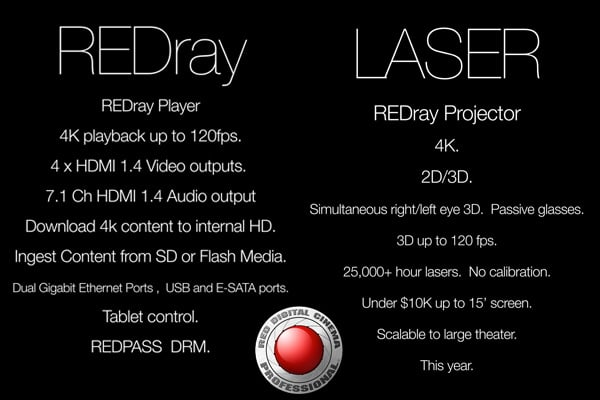 RED teases 4K REDray player and projector for the theater