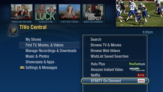 Comcast VOD for TiVo Premieres expands to Boston, old Comcast TiVos