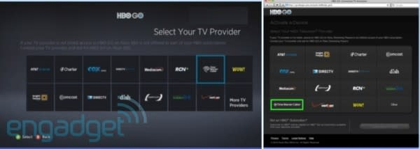 HBO Go on Roku, Samsung and Xbox opens up to Time Warner