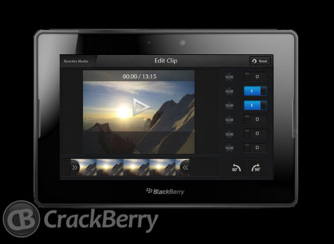 BlackBerry 10 to get video editor, screen sharing according