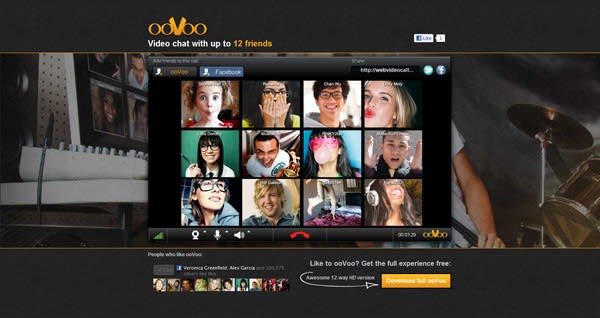 ooVoo opens up 12-way chat on Facebook and the iPad, gives other