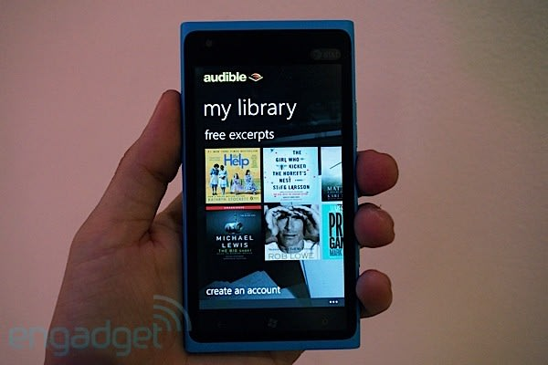 Amazon Audible hits WP 7 5, brings gesture controlled audiobooks