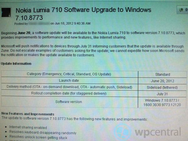 Nokia Lumia 710 phones on T-Mobile USA should learn to Tango on June