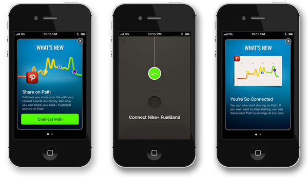 Nike+ FuelBand iOS app updated to run along your Path, sync