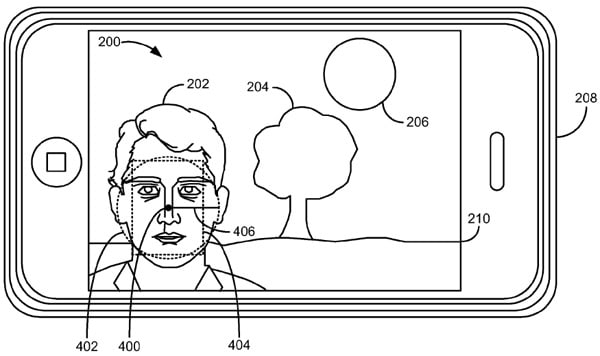 Apple patents iOS 5's exposure metering based on face