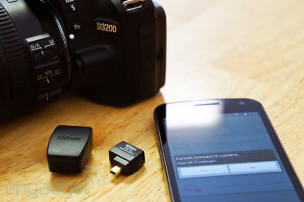 Nikon WU-1a wireless mobile adapter for D3200 review: using