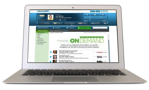 SiriusXM launches On Demand radio, gives offline access to