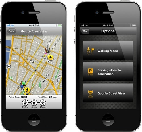 garmin navigon gps apps now consider mass transit. Black Bedroom Furniture Sets. Home Design Ideas