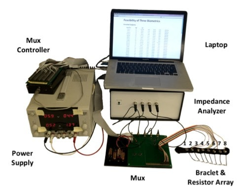 Researchers use bioimpedance as a biometric, let health monitor