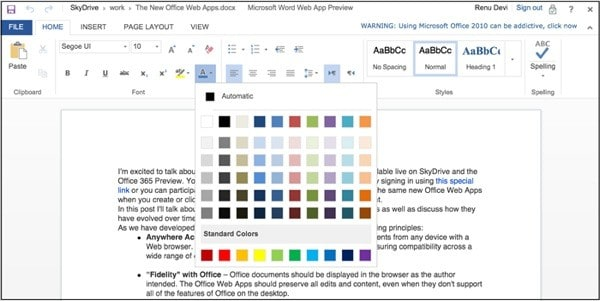Office Web Apps integrate touch support on iPad and Windows