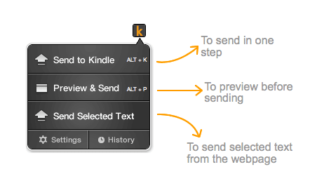 Send to Kindle comes to Chrome, Safari and Mozilla support promised
