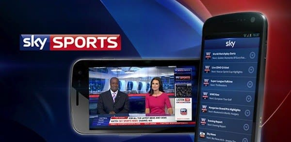 Sky Sports TV app for Android now available, brings live events to