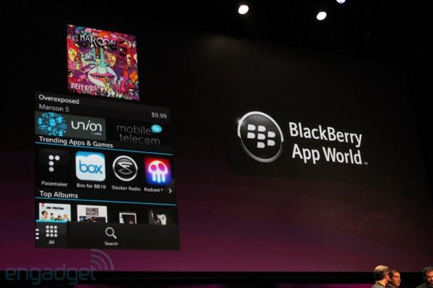 BlackBerry App World to sell music and movies, open to BB 10 app