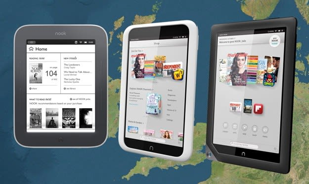 Barnes & Noble hits the UK, launches Nook Simple Touch