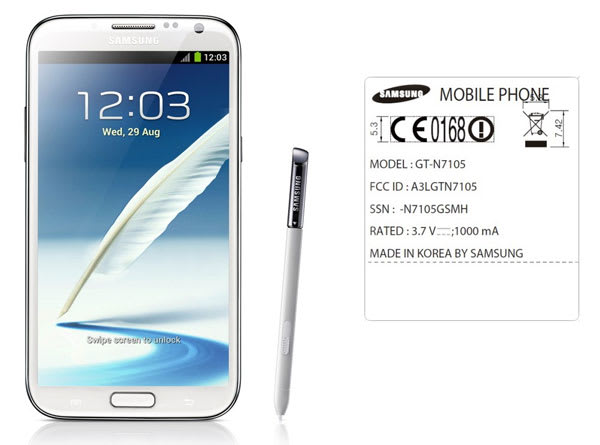 Galaxy Note II makes first FCC appearance, variant lacks US