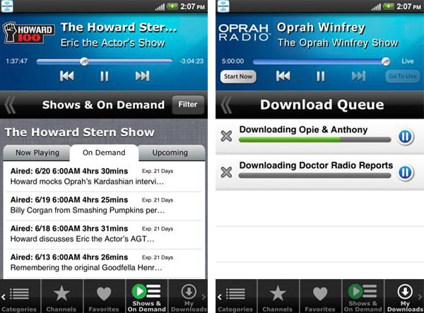 SiriusXM for Android update brings On Demand and offline