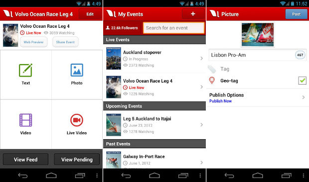 Livestream for Producers Android app update brings live