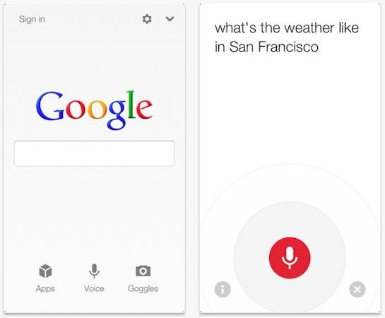 Google Search app for iOS updated with new voice search