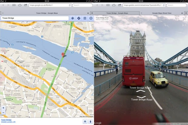 Street View comes to Google Maps web app on iOS, just like