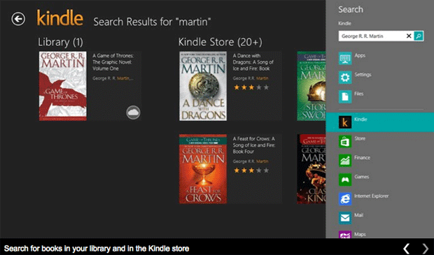 Amazon Debuts Kindle Windows 8 App Engadget