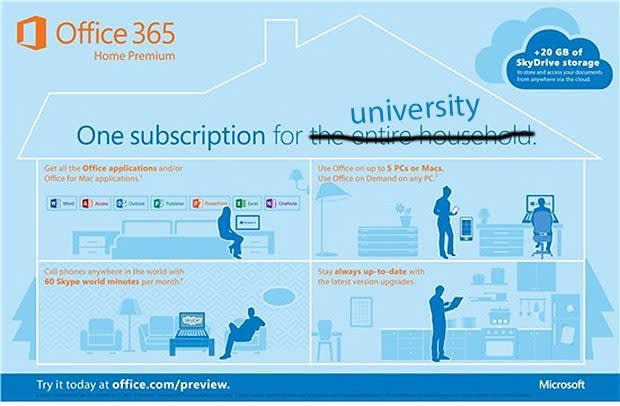 Microsoft launches four-year, $80 Office 365 University subscription