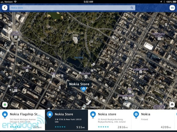 Offline Map Of New York For Iphone.Nokia Here Arrives For Ios Brings Navteq Powered Offline Maps And