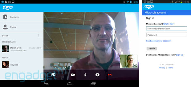 Skype version 3 0 arrives on Android devices: Microsoft login