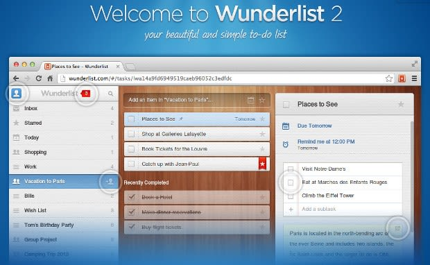 Wunderlist 2 debuts, ditches HTML5 for native apps on