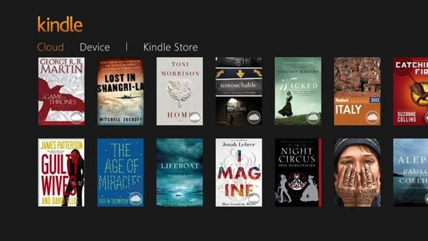 Amazon Kindle app for Windows 8, RT adds in-app book