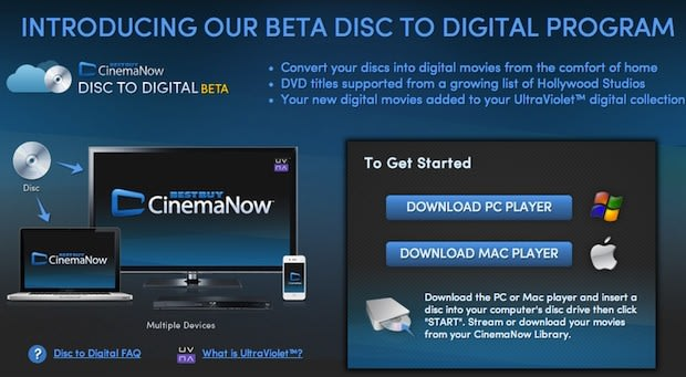Best Buy's CinemaNow opens home disc-to-digital program, makes cloud