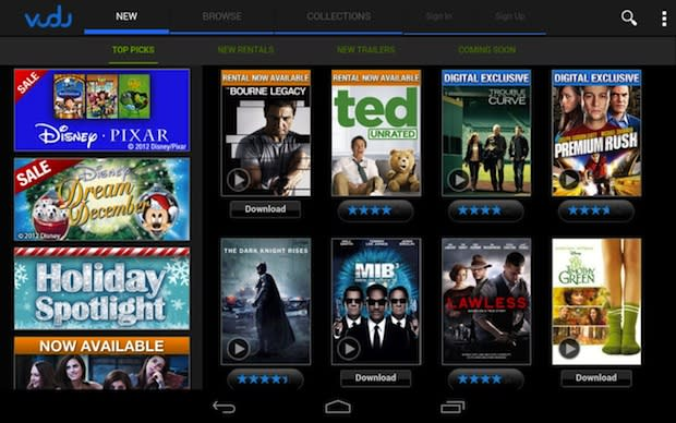 download vudu movies to android tablet