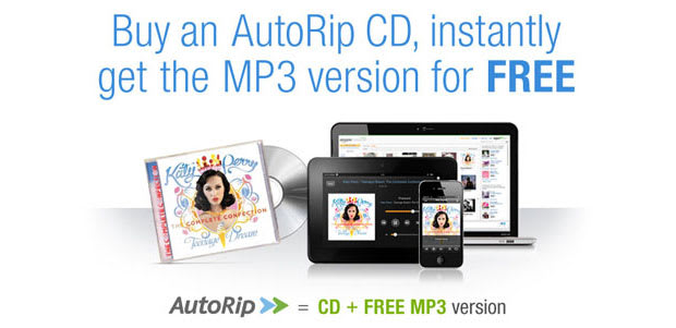 Amazon AutoRip deal gives a free MP3 version of any CD