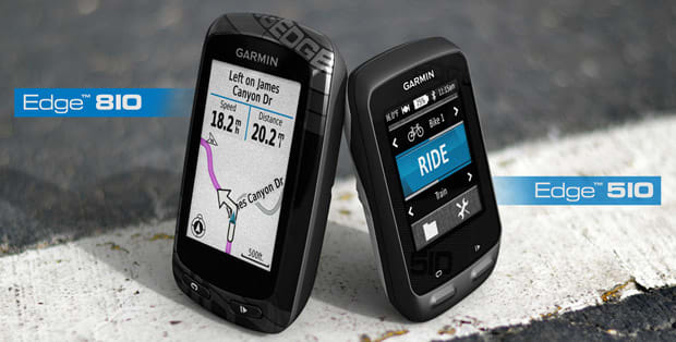 Edge 510 and 810 cycling computers appear on Garmin's web