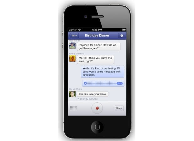 Facebook adds voice recording to Messenger, testing VoIP
