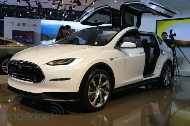 We Ve Seen The Model X In Flesh Before At Its Showy Unveiling Last February Which Tesla Ceo Elon Musk Turned Up To Show Off Falcon Wing Rear